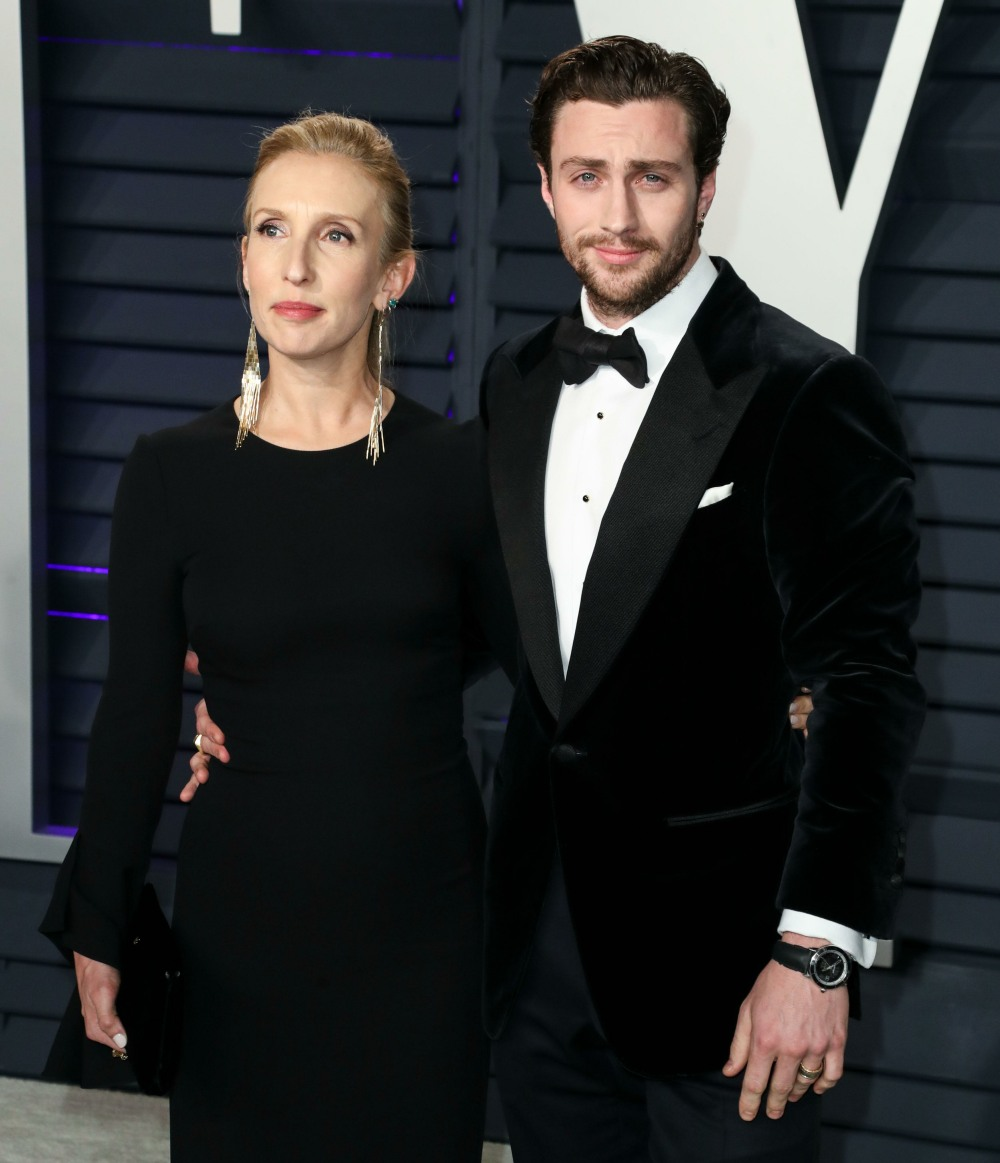 Sam Taylor-Johnson and Aaron Taylor-Johnson arrive at the 2019 Vanity Fair Oscar Party held at the Wallis Annenberg Center for the Performing Arts on February 24, 2019 in Beverly Hills, Los Angeles, California, United States. (Photo by Xavier Collin/Image