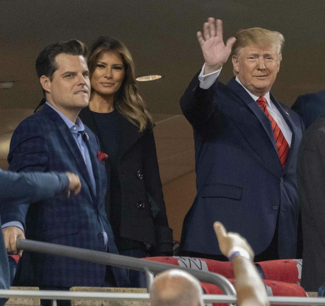Trump at World Series