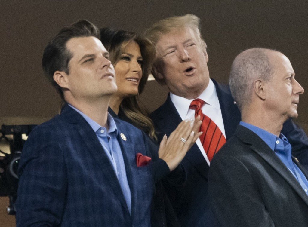Trump and Congressional GOP Members Attend Game 5 of the World Series