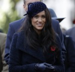 Britain's Meghan, the Duchess of Sussex attends the 91st Field of Remembrance at Westminster Abbey in London, Thursday, Nov. 7, 2019.