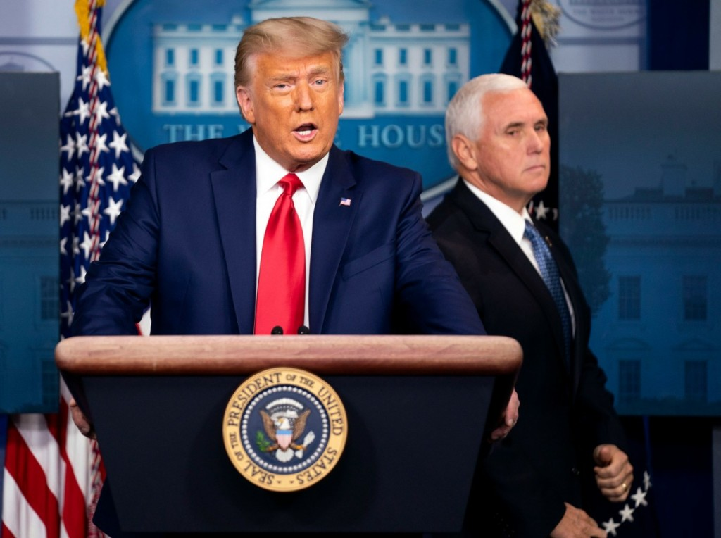 President Trump delivers remarks on the stock market in Washington, DC