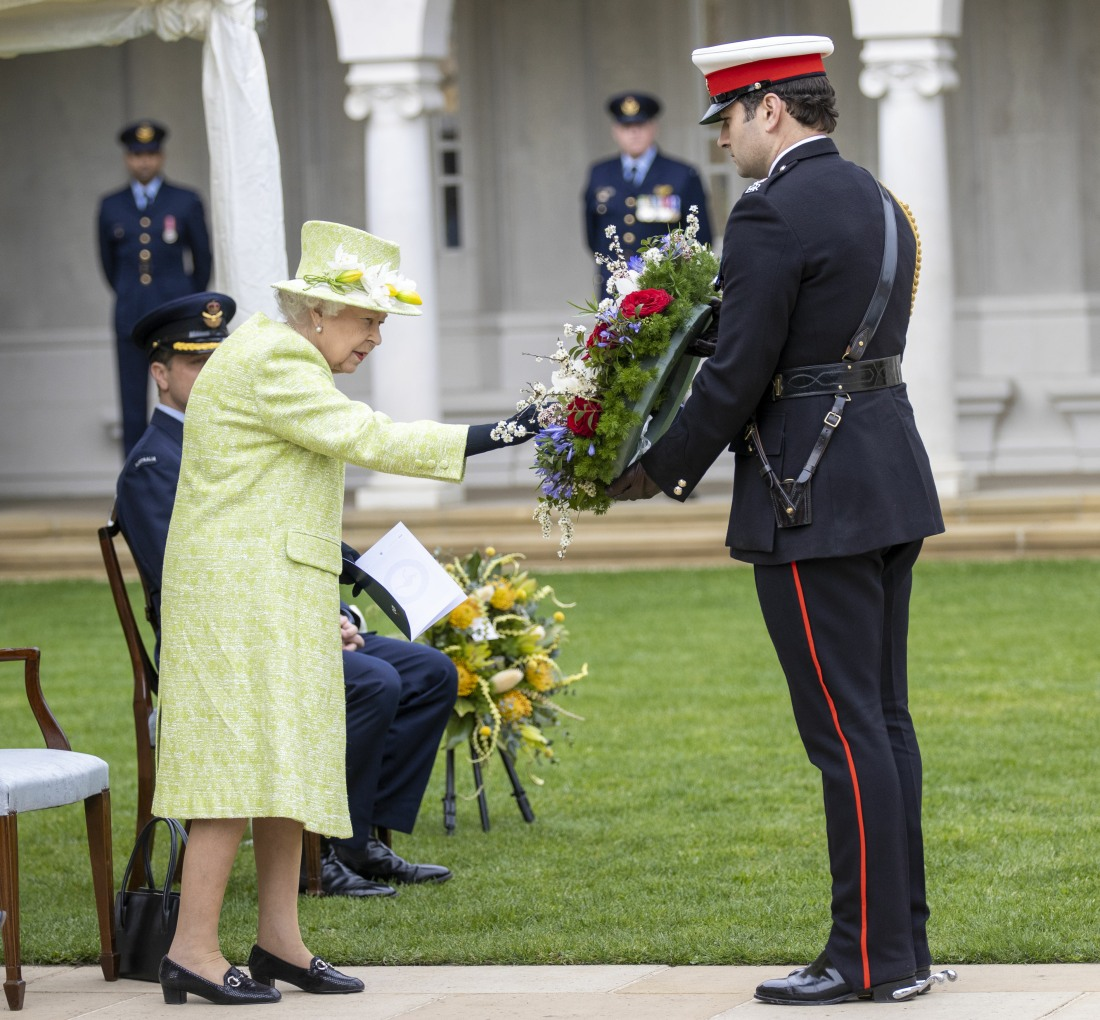 Her Majesty the Queen during her visit to the Royal Australian Air Force Memoria