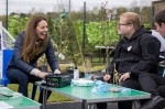 The Duke and Duchess of Cambridge royal vist to Cheesy Waffles Project,