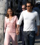 "Ben Affleck and Jennifer Lopez arrive to the set of Jen's new music video ""Jenny from the Block"""