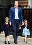 Prince William and his children arrive to the Lindo Ward