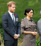 The Duke of Sussex and Duchess of Sussex at a welcome ceremony in Wellington