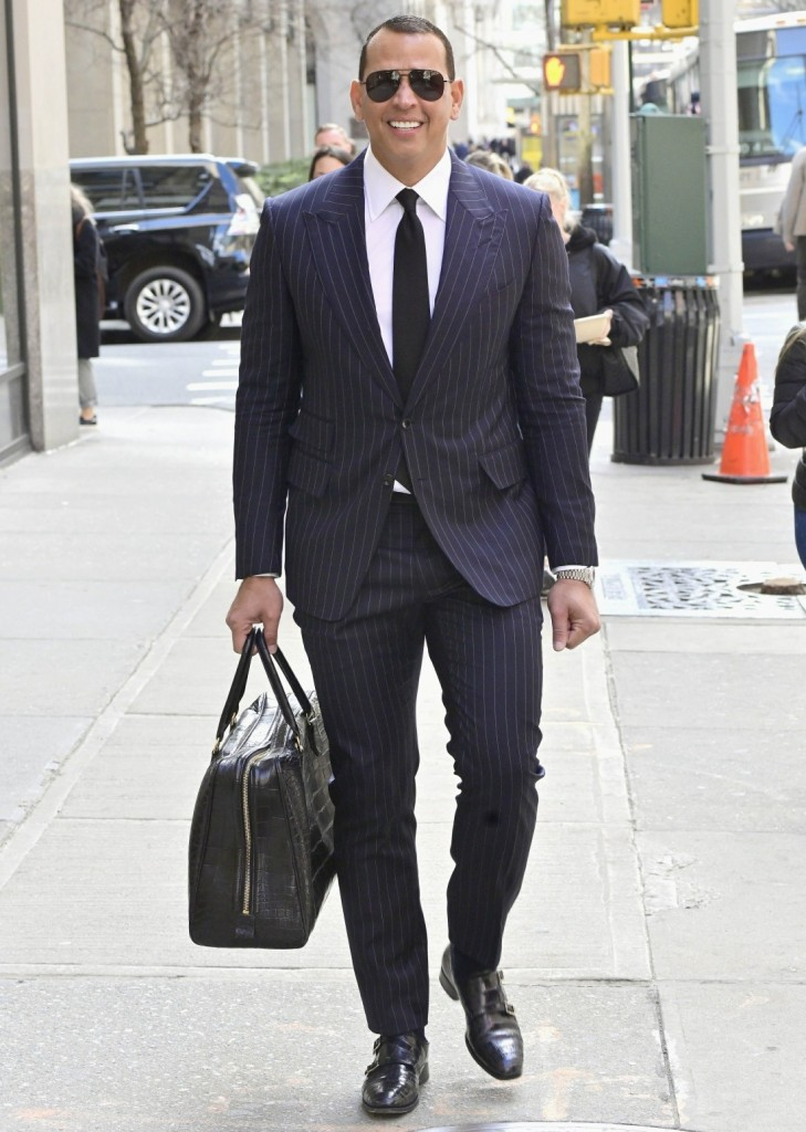 Alex Rodriguez is out in NYC making power moves in pinstriped suit!