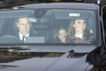 The British Royals leave Buckingham Palace for Xmas lunch with HRH The Queen.