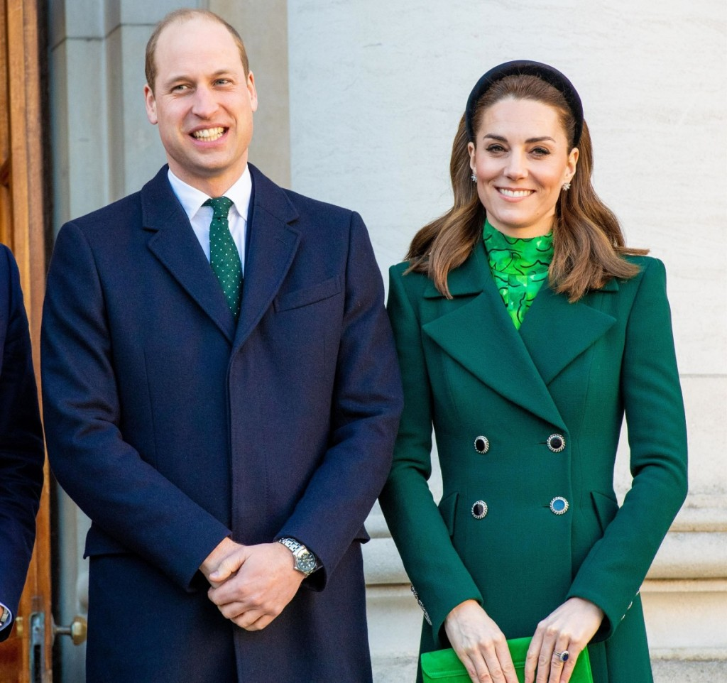 The Duke and Duchess of Cambridge visit the Prime Minister and the President of Ireland