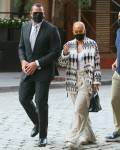 Jennifer Lopez and Alex Rodriguez go out for dinner in Tribeca