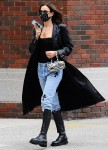 Supermodel Irina Shayk walks through New York.