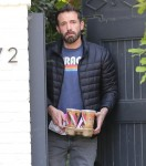 Ben Affleck pictured picking up his favorite coffee delivery!