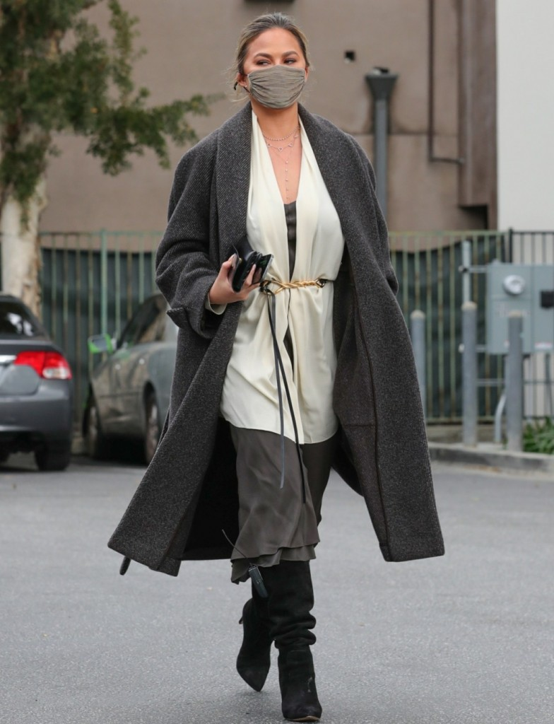 Chrissy Teigen channels Star Wars in a stylish ensemble tackling some errands in the 90210
