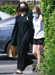 Angelina Jolie and her daughter Vivienne go shopping for flowers together