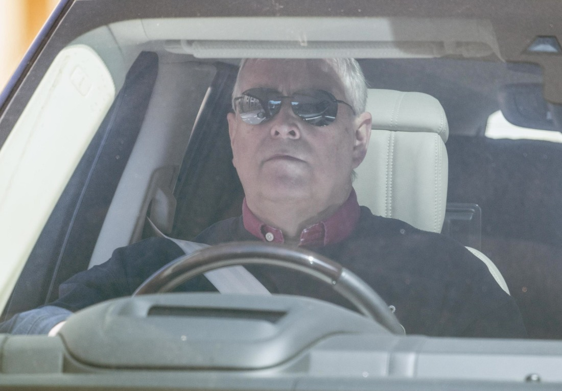 Prince Andrew spotted driving his car in Windsor
