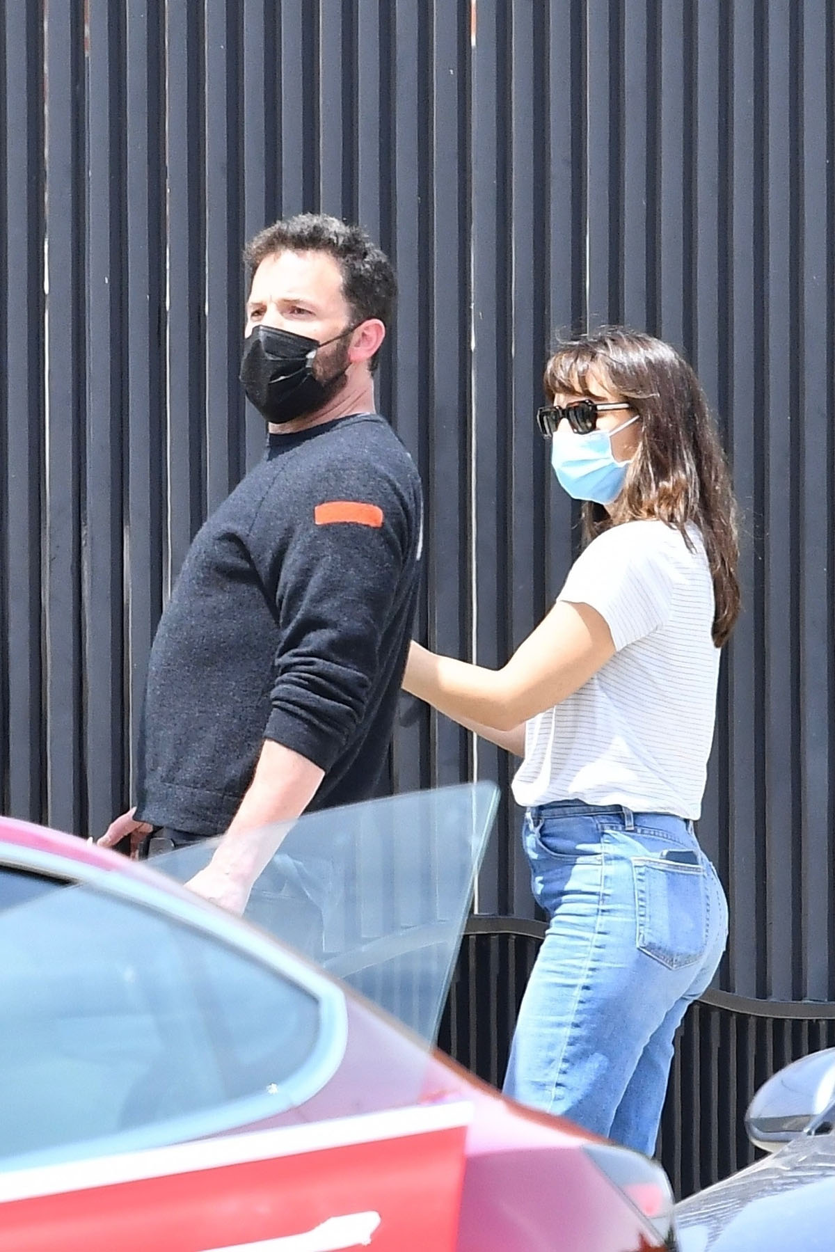 Jennifer Garner and Ben Affleck attend their son's swimming class together and get chatty in Brentwood