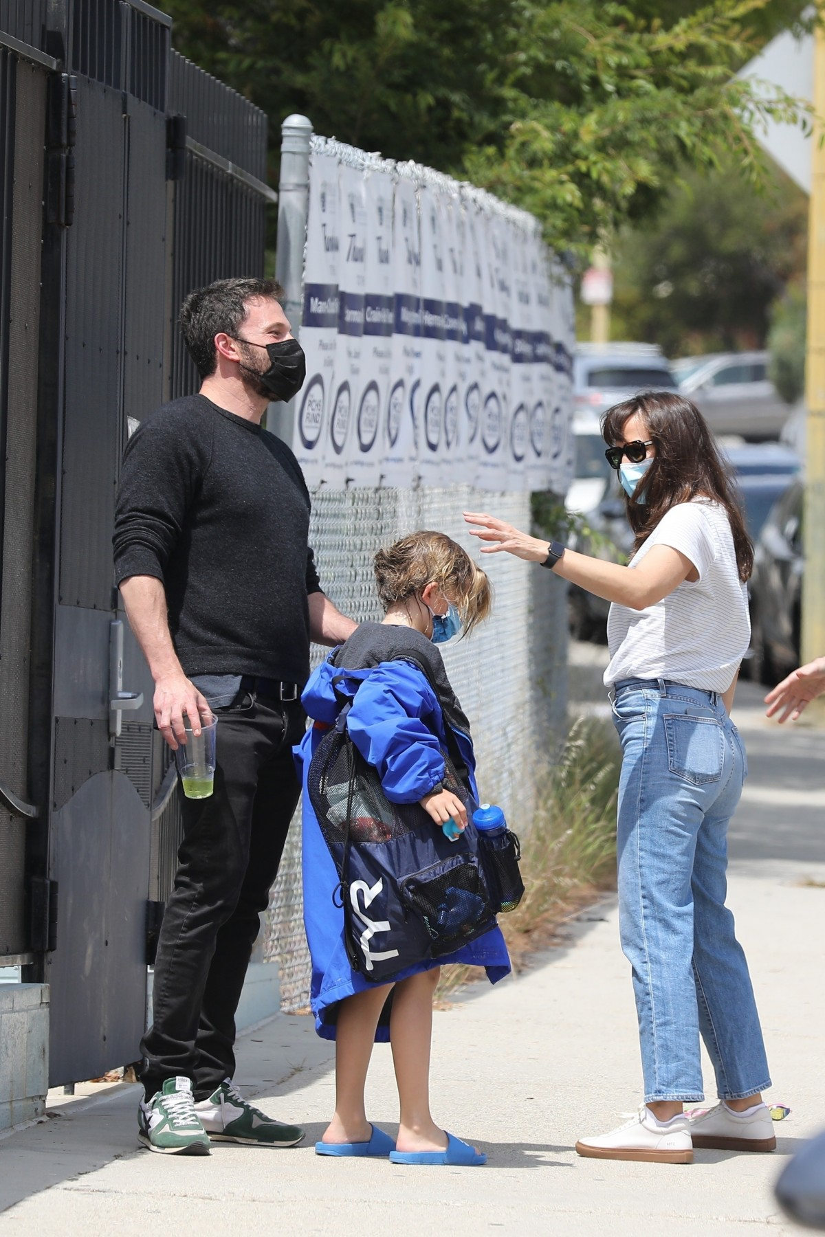 Ben Affleck and Jennifer Garner take their son to his swimming class