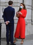 The British Royal Catherine Duchess of Cambridge leaving The National Portrait Gallery in London