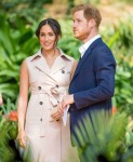 Britain's Prince Harry and his wife Meghan, the Duke and Duchess of Sussex in South Africa