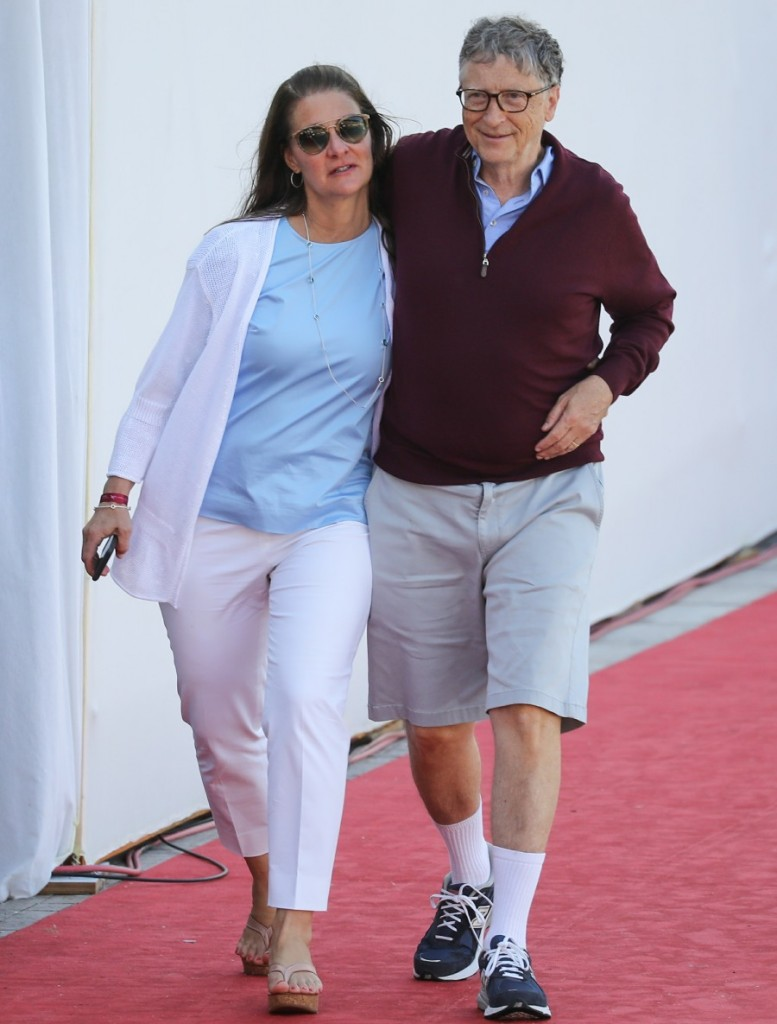 Bill and Melinda Gates attend the Longines Global Champions Tour of Monaco and support their daughter Jennifer Gates during the Prix de la Fédération Equestre de Monac