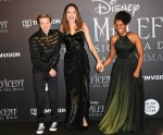 Angelina Jolie with son Shiloh Pitt and daughter Zahara Pitt during the European Premiere of film 'Maleficent : Mistress of evil', Rome, ITALY-07-10-2019