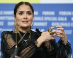 """26 February 2020, Berlin: 70th Berlinale, """"The Roads Not Taken"""" - Press conference: Actress Salma Ha..."""