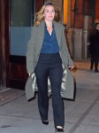 Kate Winslet steps out of The Greenwich Hotel with a smile