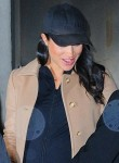 Meghan Markle leaves after her baby shower at The Mark Hotel in New York
