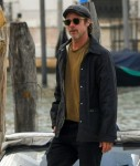Brad Pitt en route to the Biennale art event in Venice, Italy