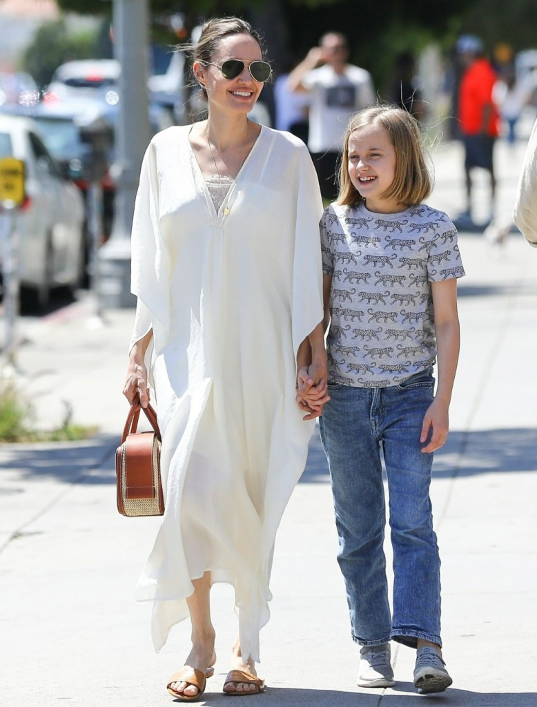 Angelina Jolie goes shopping with her daughter Vivienne