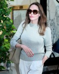 Angelina Jolie looks great as she leaves her hotel after an outfit change