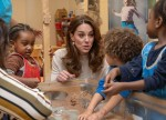 Catherine, Duchess of Cambridge is pictured at LEYF, London