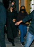 Angelina Jolie leaves after dinner with her daughter Zahara at Craig's