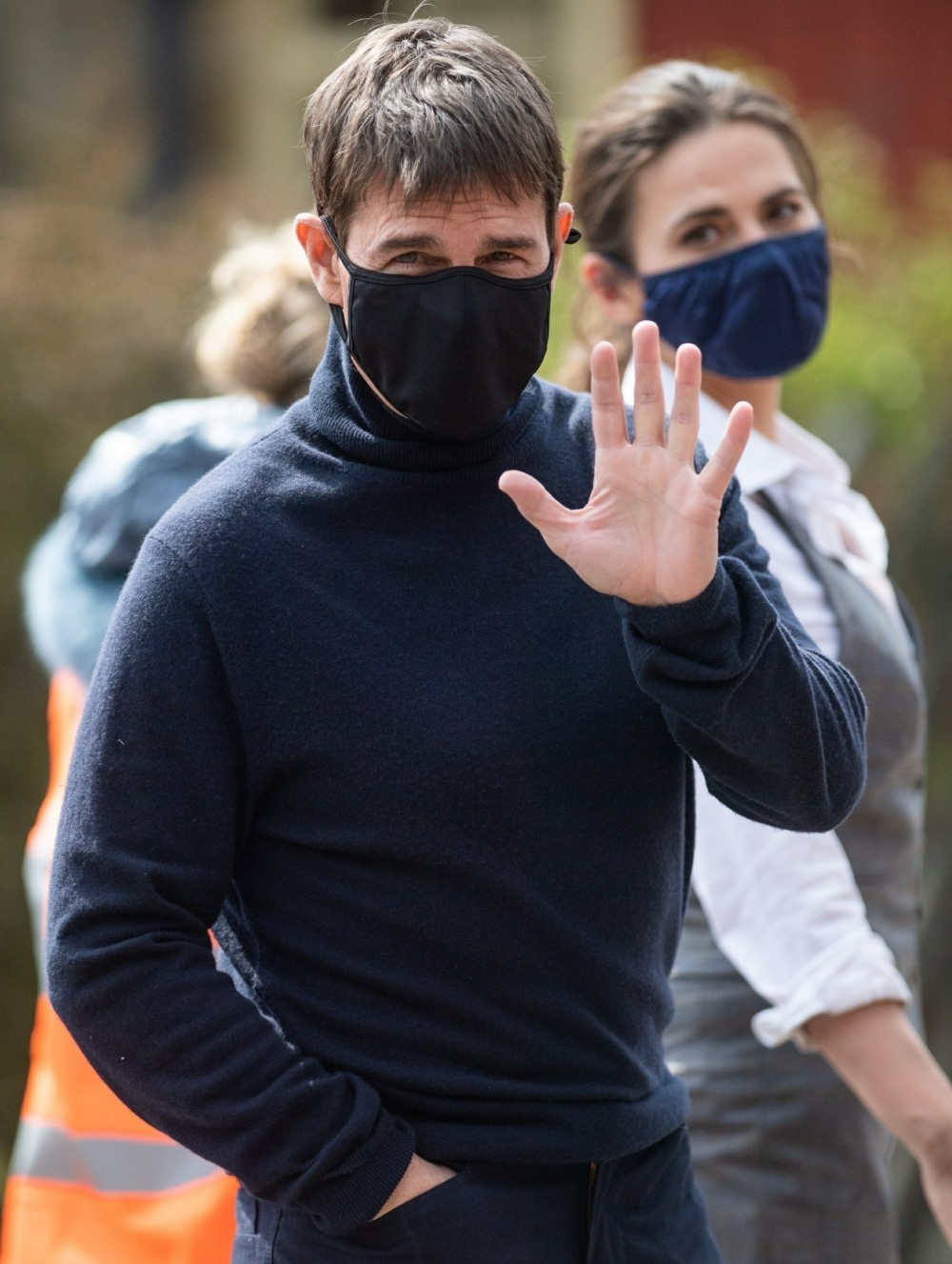 Tom Cruise and Hayley Atwell spotted on the set of Mission Impossible 7 in Yorkshire