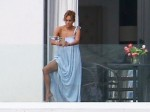 Jennifer Lopez snaps selfies on the balcony of her and Ben Affleck's Miami Beach waterfront mansion