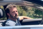 Ben Affleck looks Happy and Tired leaving Jennifer Lopez's LA home