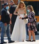 Jennifer Lopez arrives for a meeting at Windward School in LA