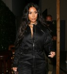 Kim Kardashian seen in all black leaving dinner at Craig's