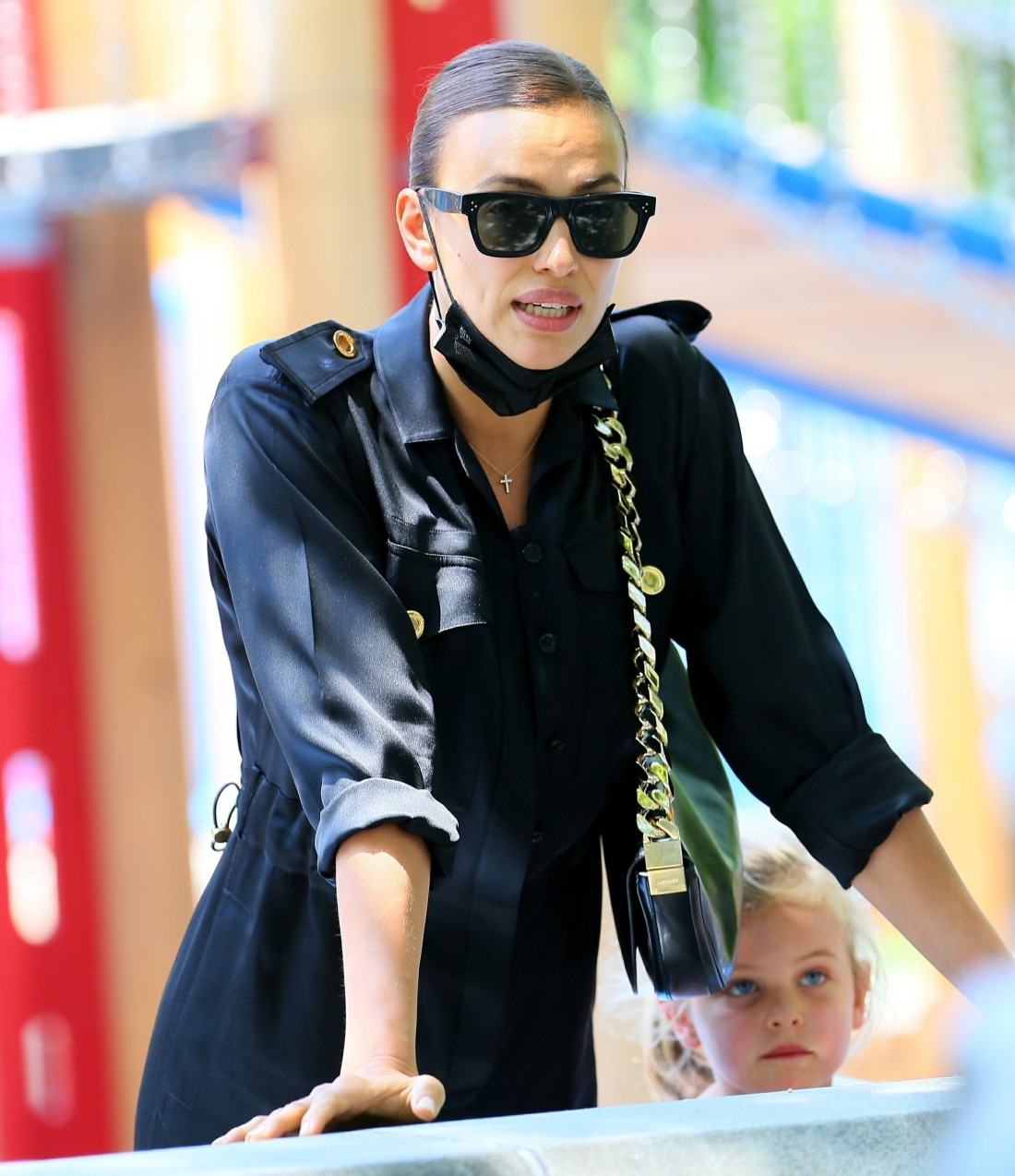 Irina Shayk takes her daughter to the park after spending time with Kanye West!
