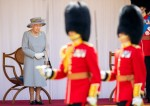 Queen Elizabeth II and The Duke of Kent attend the Trooping of the Color military ceremony