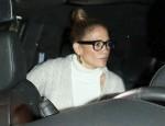 Jennifer Lopez ends her night celebrating her sister Lynda Lopez's 50th birthday at Craig's!