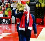 Prince Albert II of Monaco attends the Monaco against Bourg en Bresse Basketball match