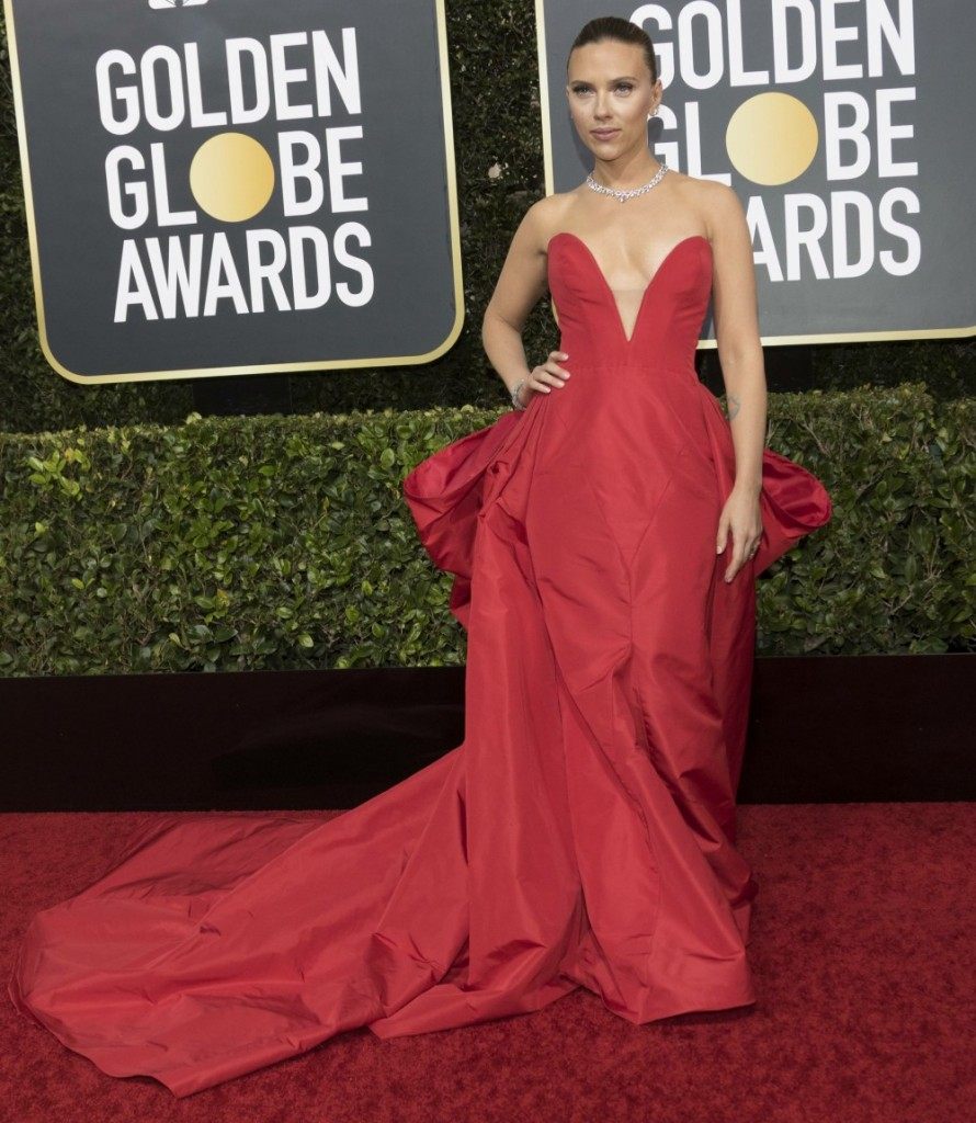 Scarlett Johansson attends the 77th Annual Golden Globe Awards, Golden Globes, at Hotel Beverly Hilton in Beverly Hills, Los Angeles, USA, on 05 January 2020.   usage worldwide