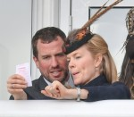 Peter Phillips, Autumn Phillips and Amelia Warner seen  at The Festival, Gold Cup Day, Friday, Cheltenham Racecourse, Cheltenham, Gloucestershire, UK