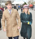 Peter Phillips and Autmn Phillips seen at The Festival 2020, Gold Cup Day Cheltenham Racecourse, Cheltenham , Glos