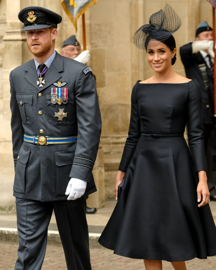 Prince Harry, The Duke of Sussex and Meghan, Duchess of Sussex at service to mark the centenary of the Royal Air Force on 10/07/2018