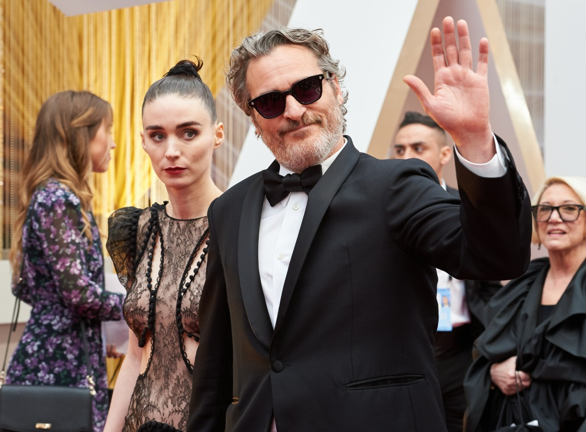 Rooney Mara and Oscar® nominee, Joaquin Phoenix arrive on the red carpet of The 92nd Oscars® a...