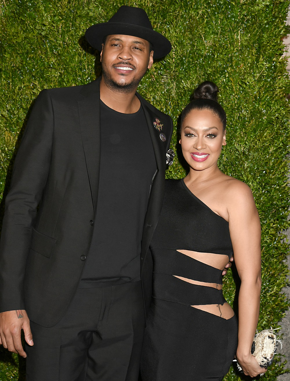 Carmelo Anthony and wife LaLa Anthony attend the 11th Annual Chanel Tribeca Film Festival Artists Dinner on April 18, 2016 at Balthazar Restaurant in New York, New York, USA.photo by Robin Platzer/Twin Images/Photoshot