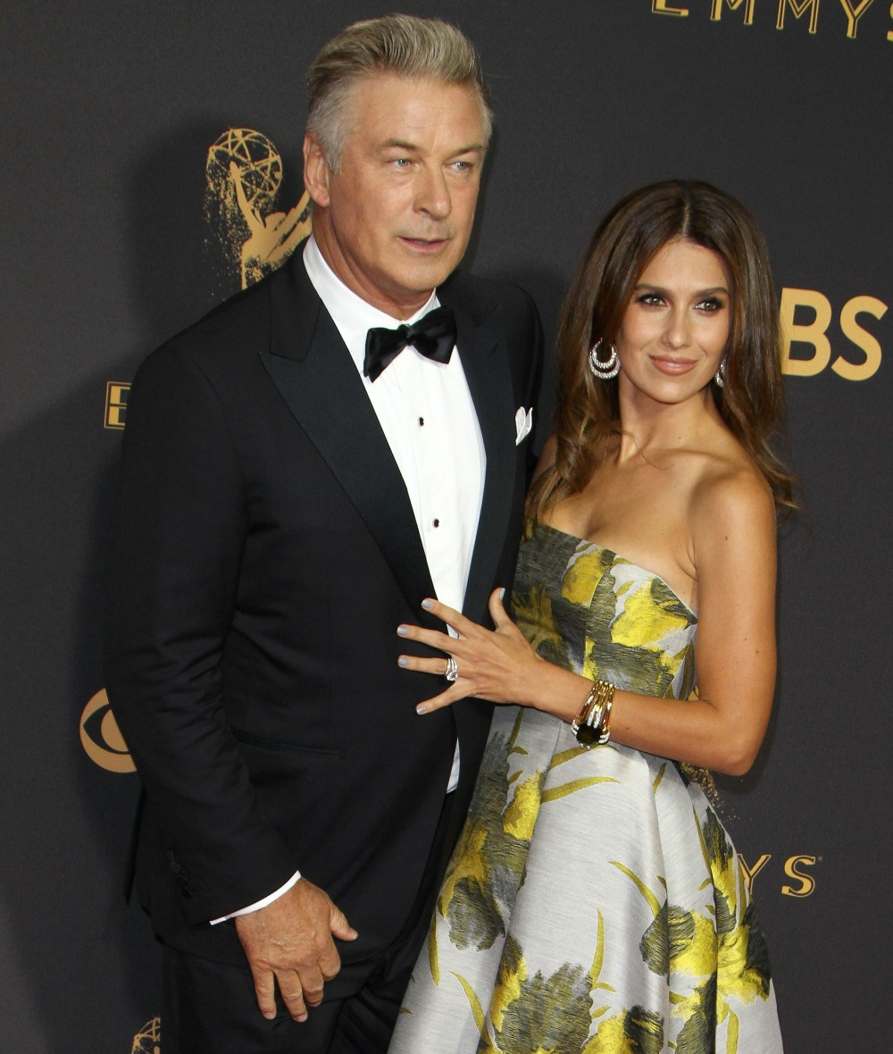 Alec Baldwin, Hilaria Baldwin attends The 69th Annual Primetime Emmy Awards at the Microsoft Theater