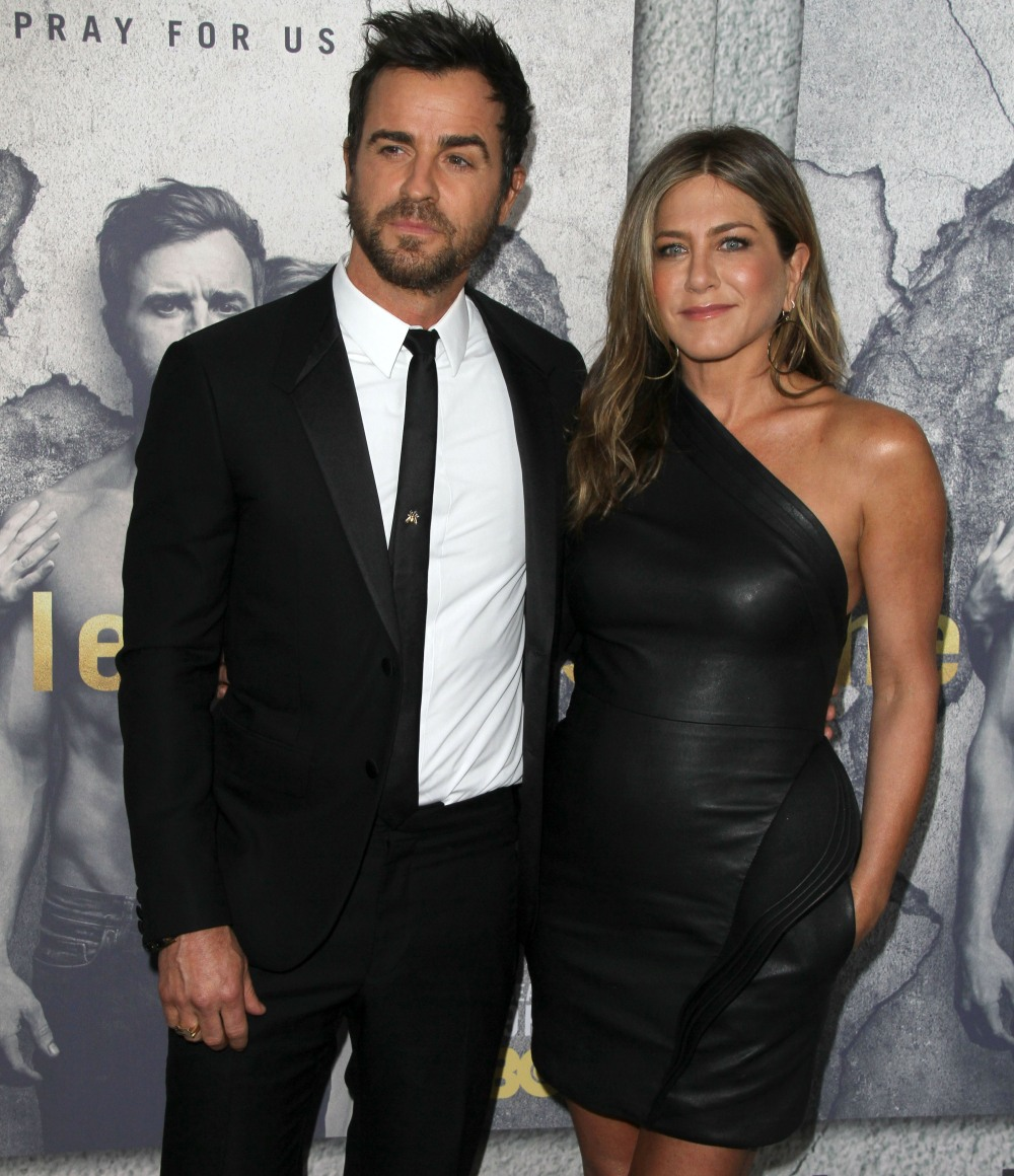 Jennifer Aniston, Justin Theroux attends the premiere Of HBO's 'The Leftovers' Season 3 in Hollywood